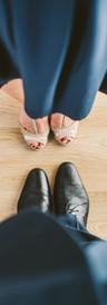 Sapatos de dança extravagante