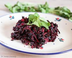 Czarny ryż z botwinką