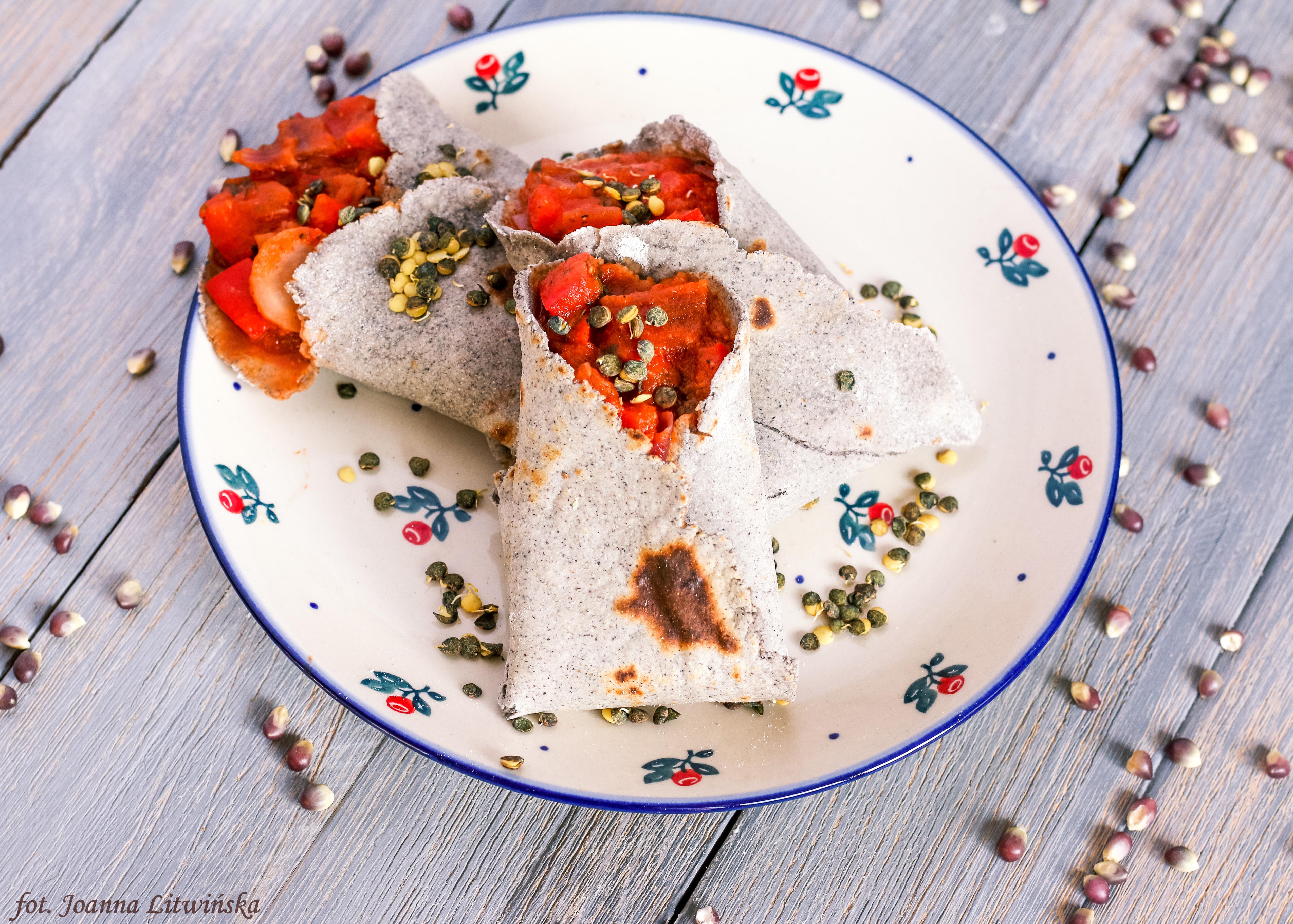 Tortilla z niebieskiej kukurydzy