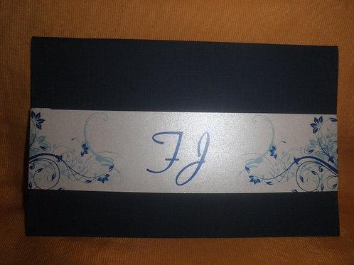 Convite De Casamento Azul 2E3761