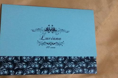 Convite Aniversário azul Tifanny