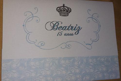 Convite 15 Princesa Azul