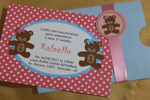 Convite Infantil Ursinha