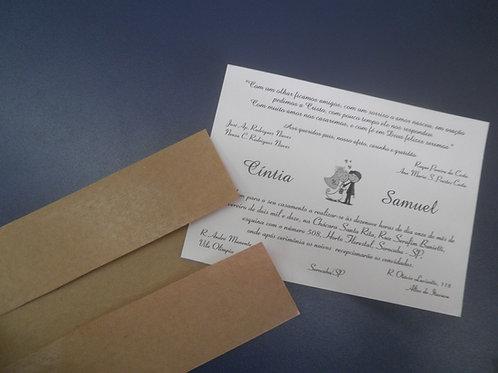 Convite de Casamento PGD 2190B - 56C79C