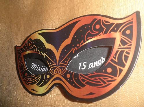 Convite 15 anos Máscara