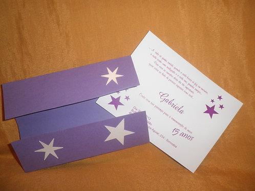 Convite 15 anos estrela branca 241107
