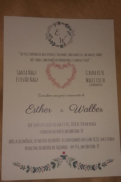Convite de Casamento sem envelope