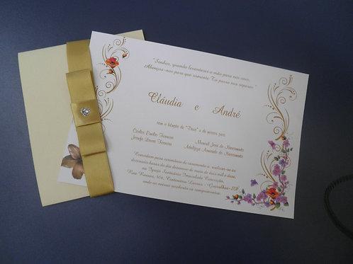 Convite de casamento Floral 1FE590