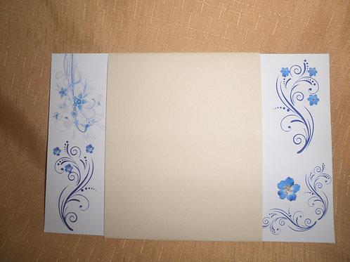 Convite de Casamento Florais Azul