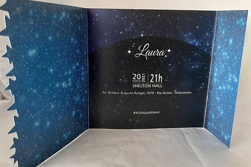 Convite Estrelas 15 anos
