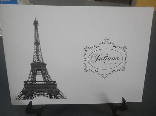 Convite 15 anos com dobra Paris