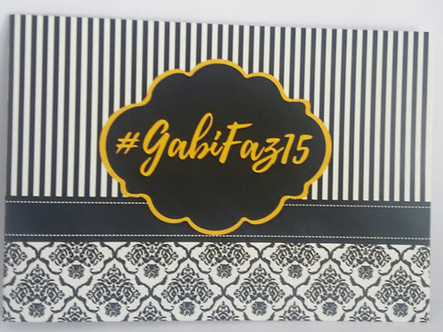 Convite 15 anos Gabi