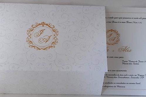 Convite de Casamento Arabescos Grande