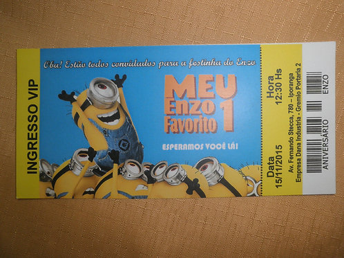 Convite 1 ano Minions