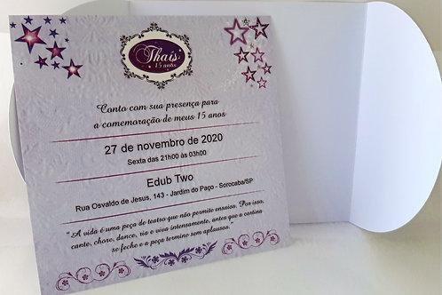 Convite 15 anos Galaxia