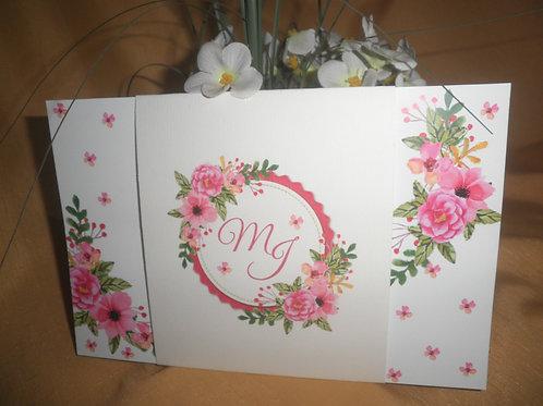 Convite de Casamento flores