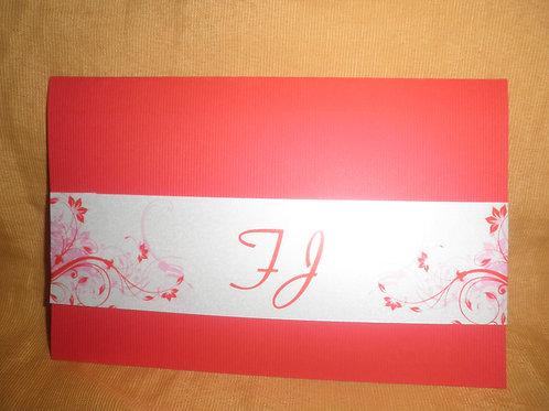Convite de Casamento Vermelho 2E372C