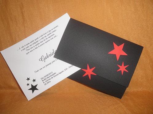 Convite 15 anos estrela vermelha 241244