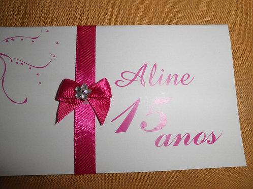 Convite 15 anos Aline 212CDD