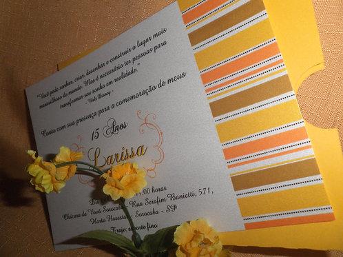 Convite 15 Anos envelope luva