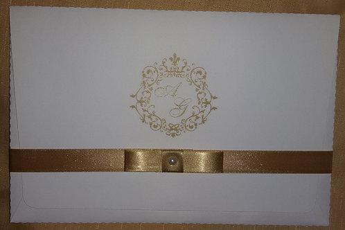 Convite de casamento marfim