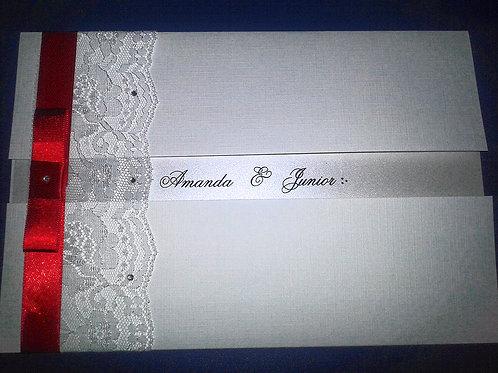 Convite de Casamento renda 62D6C8