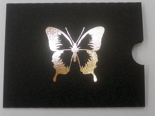 Convite 15 anos envelope luva preto hot stamp