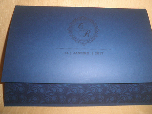 Convite de Casamento Brasão Azul