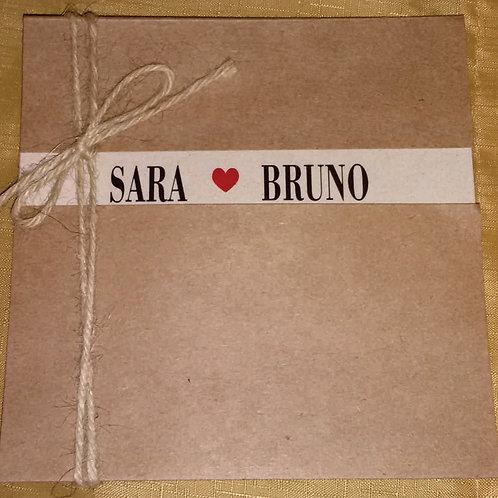 Convite Casamento Rústico Sara e Bruno