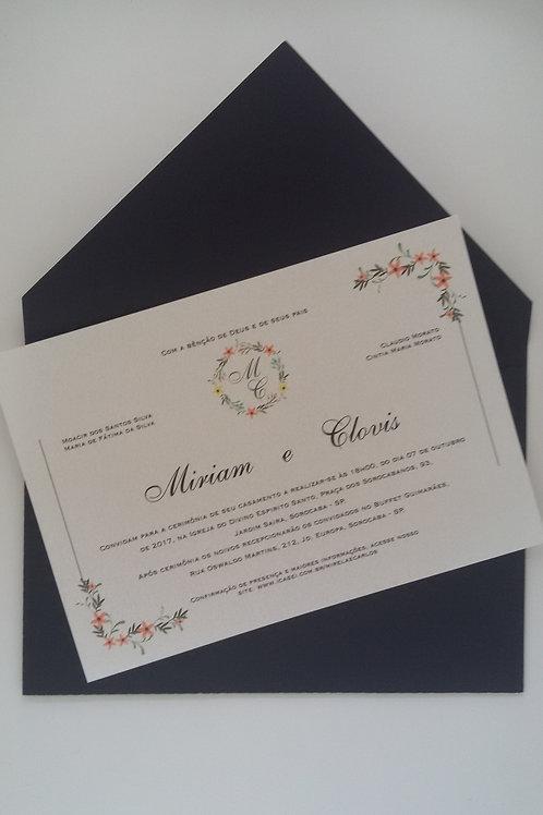 Convite Envelope Bico preto