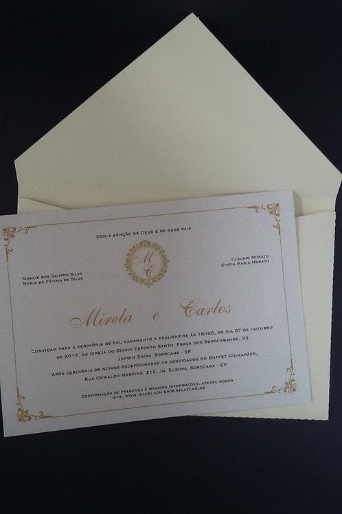 Convite Envelope Bico Marfim