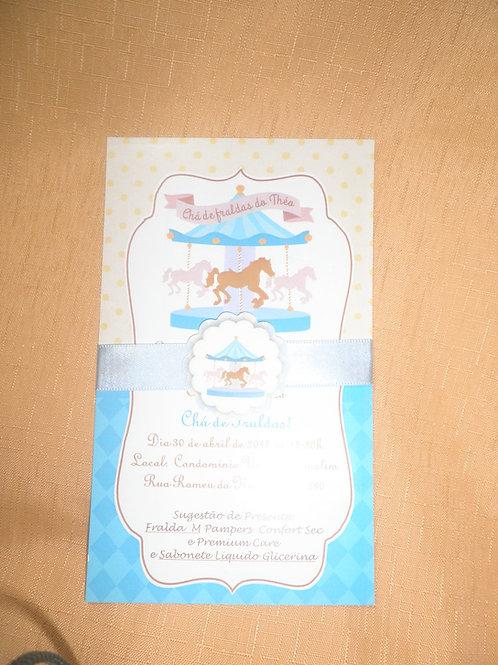 Convite Chá de Bebê Carrossel