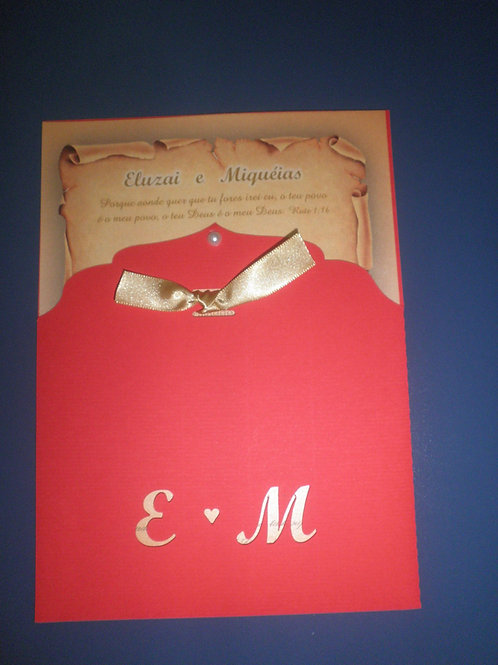 Convite de casamento 6E6187 Pergaminho