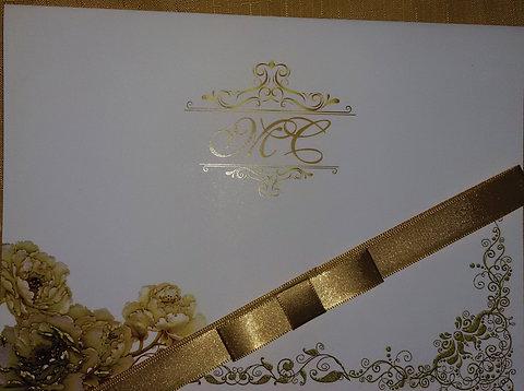 Convite De Casamento Arabescos Dourado Graficapalic