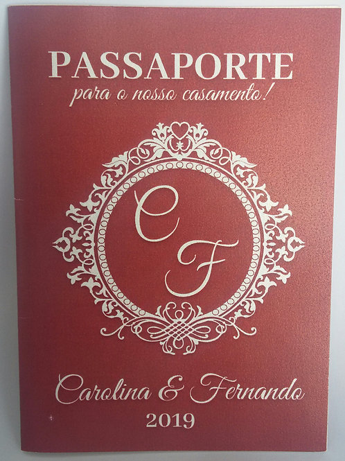 Convite de Casamento Passaporte 2