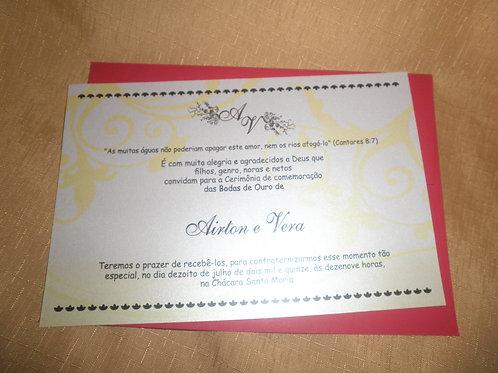 Convite Bodas de Ouro 5939FE