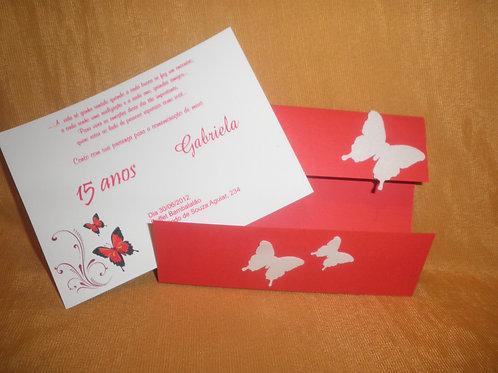 Convite 15 anos borboletas 24117B