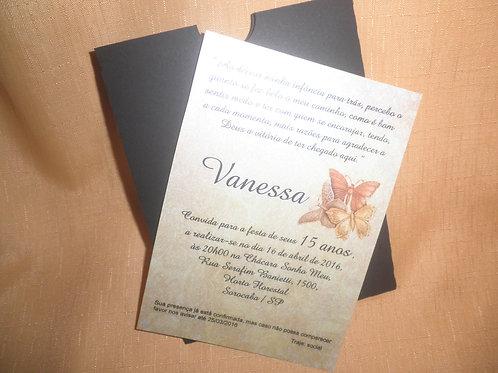 Convite 15 anos envelope luva 2