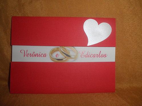 Convite de Casamento Coração 241D4B