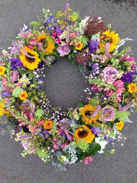 Kranz mit Sonnenblumen
