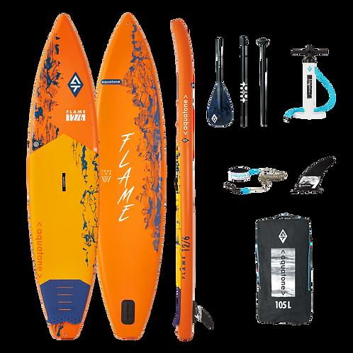 Aquatone FLAME Touring Stand Up Paddle Board SUP 12.6 iSUP inkl. Padde