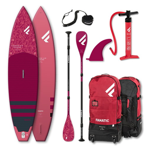 Fanatic Diamond Air Touring Stand Up Paddle Board SUP 11.6 iSUP Carbon Paddel