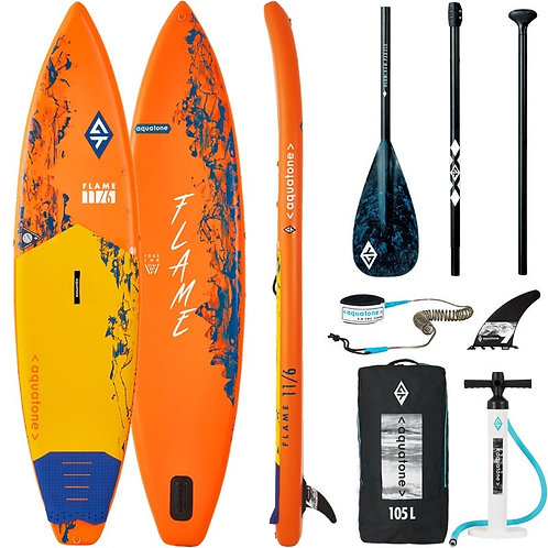 Aquatone FLAME Touring Stand Up Paddle Board SUP 11.6 iSUP inkl. Paddel