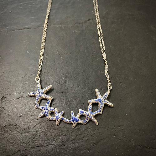 Enamel star fish necklace / sample