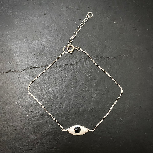 Enamel eye bracelet silver / End line