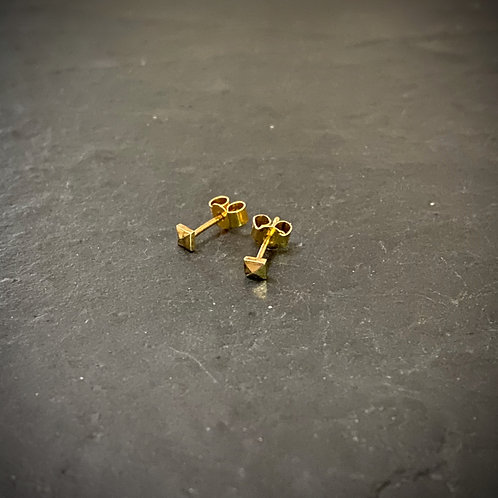 Micro studs earrings gold