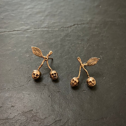 Cherry brothers earrings rose gold / Sample