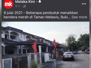 Banjir di Ayer Keroh   爱极乐区水灾   8 Julai 2021  🚩Solidariti Kempen Bendera Merah 🚩