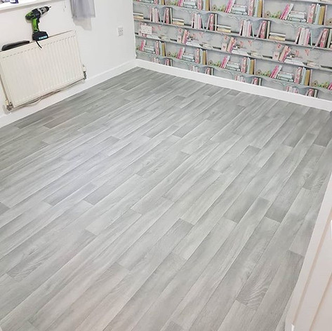 silver grey vinyl flooring