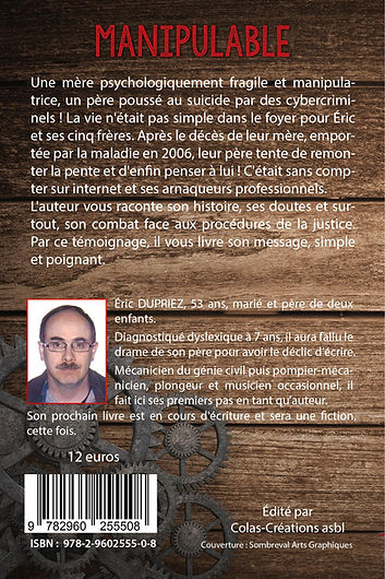 Cover back - Manipulable - Auteur Éric D